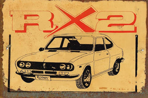 RX 2 Rotary metal sign 20 x 30 cm free postage - TinSignFactoryAustralia
