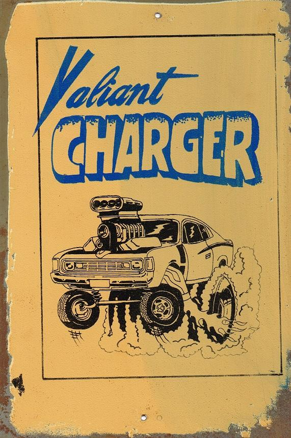 Valiant  Charger metal sign 20 x 30 cm free postage - TinSignFactoryAustralia