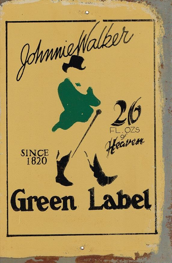 Johnnie Walker Green   Label metal sign 20 x 30 cm free postage - TinSignFactoryAustralia