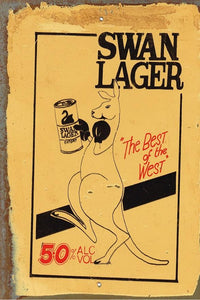 Swan Lager Best of The West metal sign 20 x 30 cm free postage - TinSignFactoryAustralia