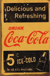 Refreshing Coke metal sign 20 x 30 cm free postage