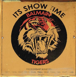 Balmain Its Show Time NRL Football Club Metal Sign 20x 20 cm - TinSignFactoryAustralia