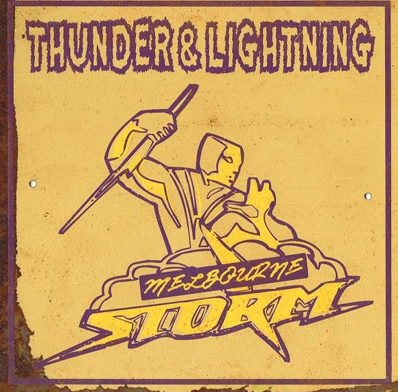 Storm  NRL Football Club Metal Sign 20x 20 cm - TinSignFactoryAustralia