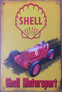 Shell Oil Garage Rustic Vintage Metal Tin Sign Man Cave, Shed and Bar and Home decor