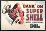Shell motor oils trouble free tin metal sign MAN CAVE brand new