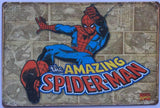 Spider-Man Garage Rustic  Vintage Metal Tin Signs Man Cave, Shed and Bar Sign