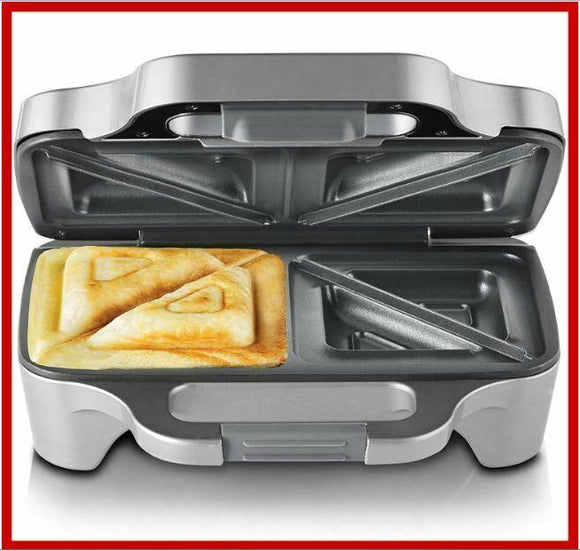 Sunbeam Big Fill Toastie 2 Up Sandwich Toaster, Silver Nonstick, NEW FREE POST