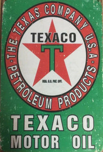 TEXACO Oil Rustic Vintage Metal Tin Sign Garage, Man Cave, Shed, Bar and Home AU