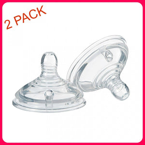 TOMMEE TIPPEE Medium Flow Teats (2-Pack), Clear AU STOCK BRAND NEW for BABY