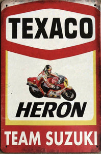 Texaco Motor Oil Garage Rustic  Vintage Metal Tin Signs Man Cave Shed and Bar Sign