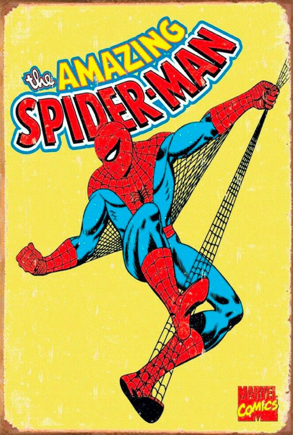 The amazing spiderman marvel comic tin metal sign man cave new garage