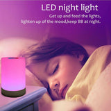 Touch Control LED Night Light Chargeable Bedside Table Dimmable Colour Lamp