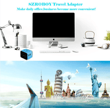 Travel Adapter,Universal Travel Adapter,All-in-one International USB Travel USB