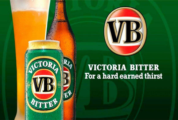 VB beer Victoria Bitter Hard earned thirst new tin metal sign MAN CAVE