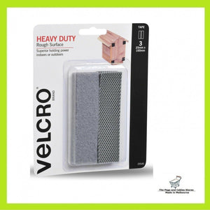 VELCRO® Brand 25 x 100mm Heavy Duty Rough Surface Tape - 3 Pack