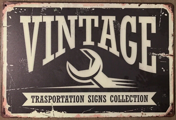 Vintage Rustic Garage Rustic Metal Tin Signs Man Cave, Shed and Bar Sign