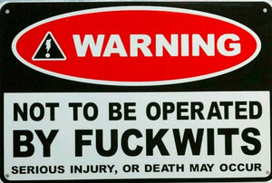 Warning F*** Wits new tin metal sign MAN CAVE