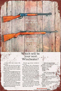 Winchester Rifles which one will you choose new tin metal sign MAN CAVE