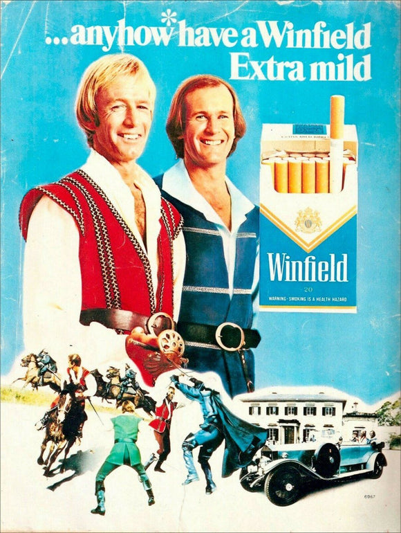 Winfield Blue cigarettes extra mild tin metal sign MAN CAVE 40x30