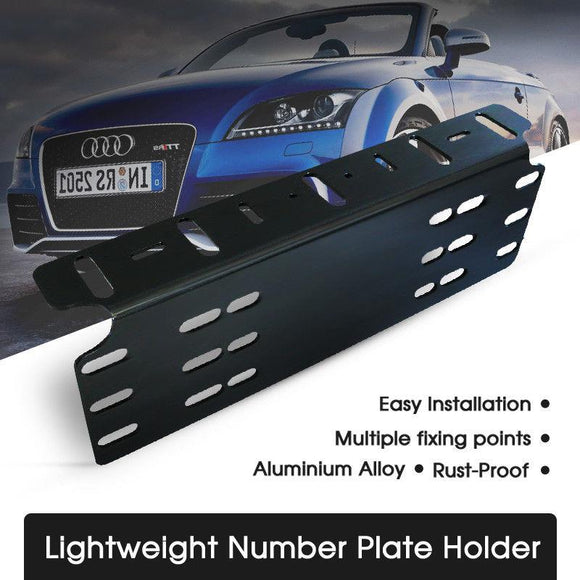 New Number Plate Holder Mount Bracket Car LED Driving Light Bar Licence