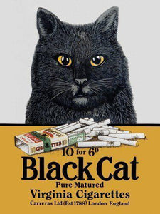 New Black Cat Cigarettes Metal Tin Sign free postage 30 x 40 cm - TinSignFactoryAustralia