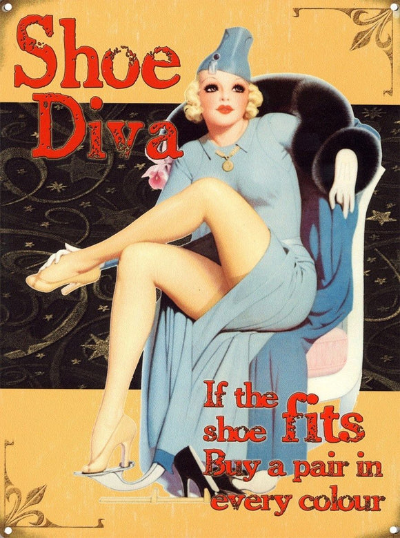New If The Shoe Fits Buy A Pair... Metal Tin Sign free postage 30 x 40 cm - TinSignFactoryAustralia