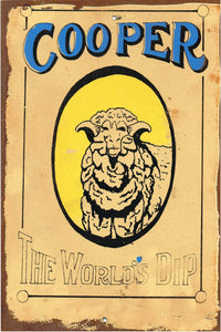 Coopers the worlds dip metal sign 20 x 30 cm free postage - TinSignFactoryAustralia