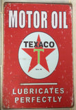 caltex RPM motor oil brand new.  tin metal sign MAN CAVE brand new