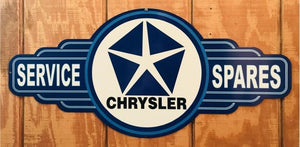 Chrysler Service Spares valiant pentastar mopar tin metal sign  free postage