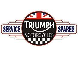 Triumph Motorcycles Service Station tin metal sign free postage Au wide