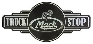 Mack Truck Stop metal sign  free postage