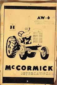 McCormick AW6  metal sign 20 x 30 cm free postage