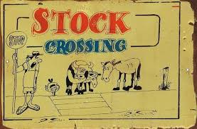 Stock Crossing metal sign 20 x 30 cm free postage
