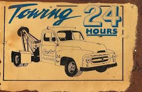 Towing 24 hrs  metal sign 20 x 30 cm free postage
