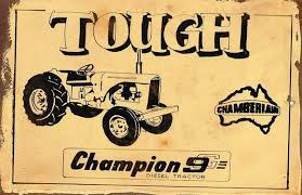 Tough Champion 9 metal sign 20 x 30 cm free postage