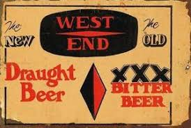 West End Beer Rustic Look Vintage Tin Metal Sign Man Cave, Shed-Garage & Bar