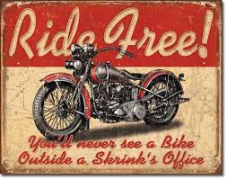 Ride Free  Metal Sign Free Postage 30 x 40 cm