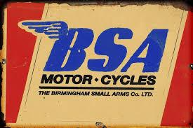 BSA Motorcycles metal sign 20 x 30 cm free post