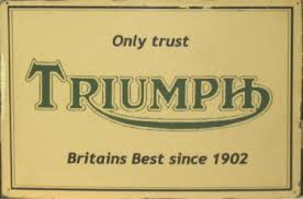 Triumph metal sign 20 x 30 cm free post