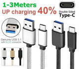 Type-C 3.1 Braided Strong Data USB Charger Cable Samsung Galaxy S8 S9 Plus Note8