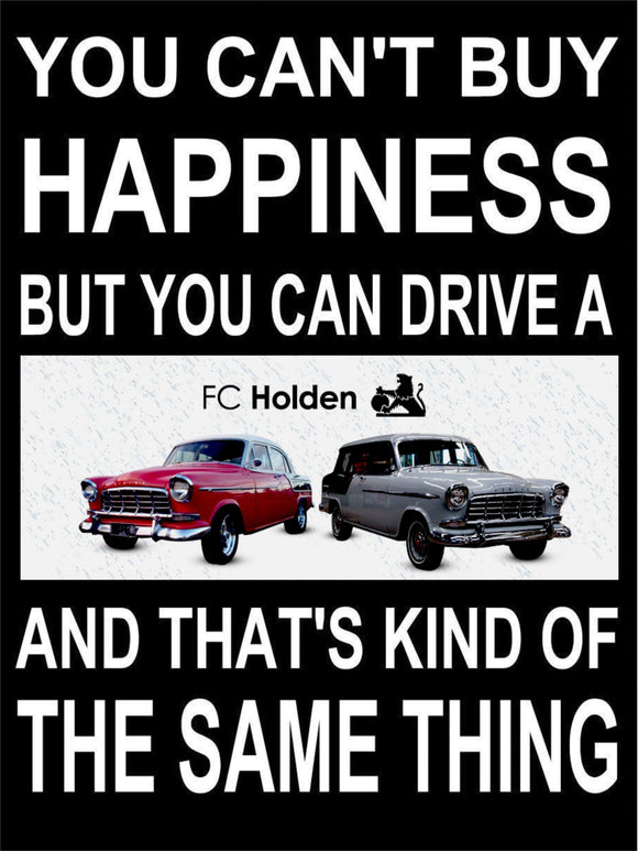 FC Holden Happiness metal sign free postage 30 x 40 cm - TinSignFactoryAustralia