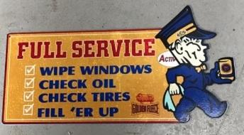 GOLDEN FLEECE FULL SERVICE TIN METAL SIGN  free postage - TinSignFactoryAustralia