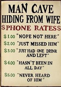 Hiding From Wife Rustic Look Vintage metal sign 20 x 30 cm free postage - TinSignFactoryAustralia