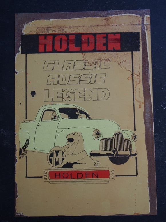 Holden classic legend metal sign 20 x 30 cm free postage - TinSignFactoryAustralia