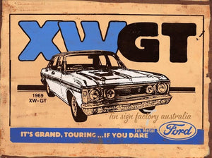 Ford XWGT    Grand Touring  metal sign free postage 30x 40 cm - TinSignFactoryAustralia