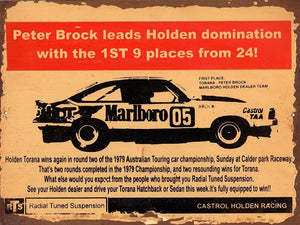 Peter Brock Domination  metal sign free postage 30x 40 cm - TinSignFactoryAustralia
