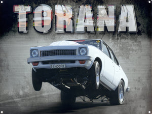 Torana  Dragsters metal sign free postage 30x 40 cm - TinSignFactoryAustralia