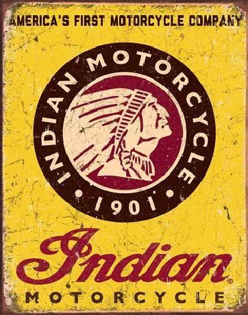 Indian Motorcycles Since 1901   Metal Sign free postage 30 x 40 cm
