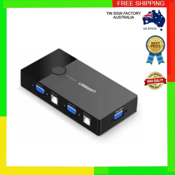 Ugreen USB VGA KVM Switch 2 In 1 Out VGA Monitor Video and 2 Port USB sharing