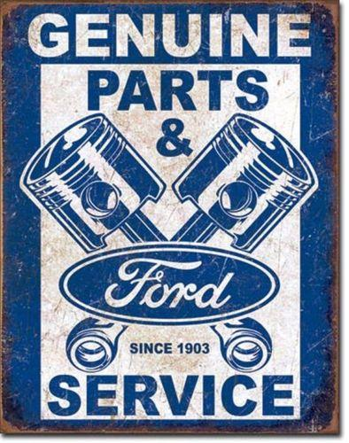 Ford Service - Pistons Metal Sign Free Postage 30 x 40 cm